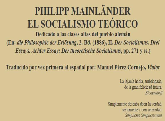 mainlaender_socialismo